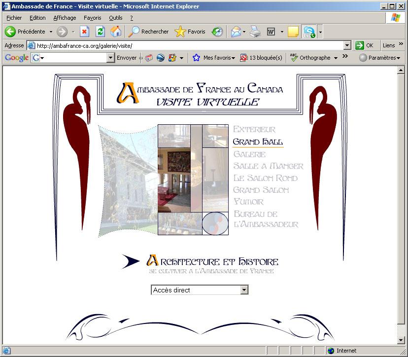 ambassade de France au Canada - visite virtuelle